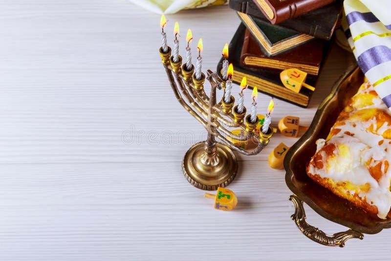 Hanukkah Żydowski festiwal świateł obraz royalty free