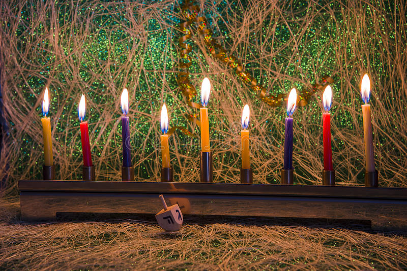 Hanukkah, το εβραϊκό φεστιβάλ των φω'των στοκ φωτογραφία