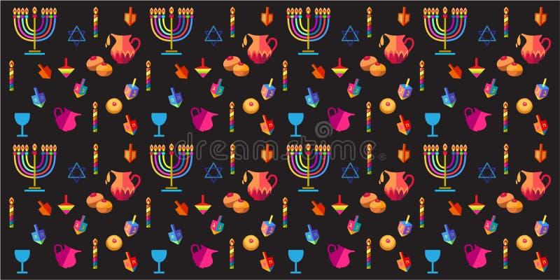 hanukkah vektor illustrationer