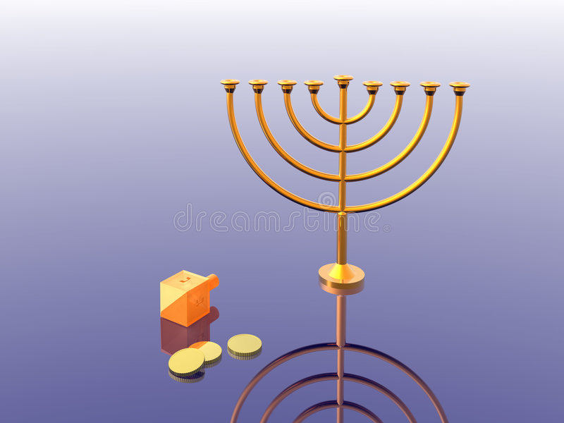 hanukkah royalty ilustracja