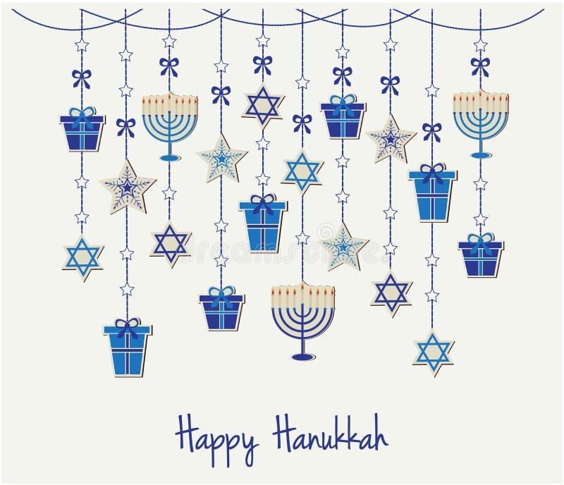 hanukkah ilustração do vetor
