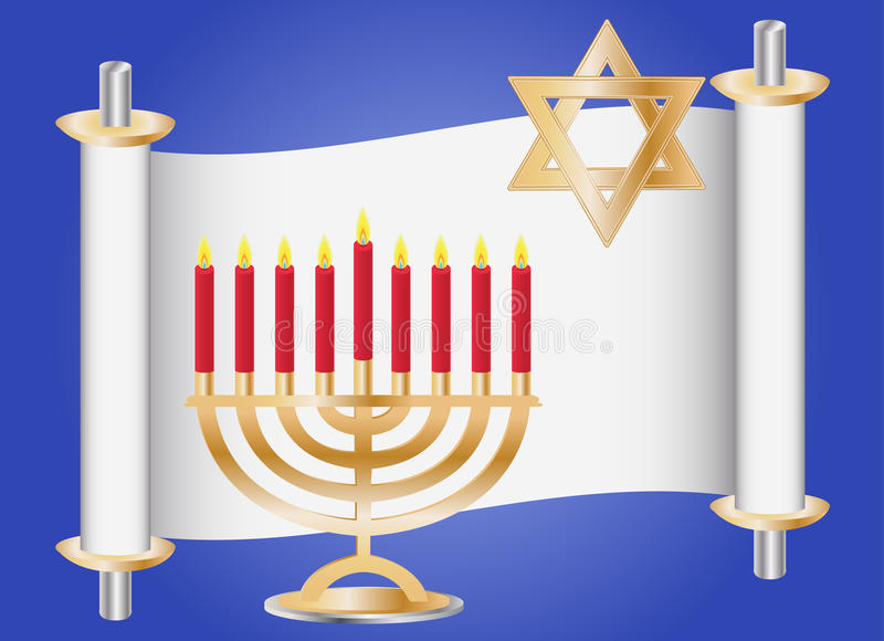 Download Hanukkah background stock vector. Image of sacrifice - 20859306