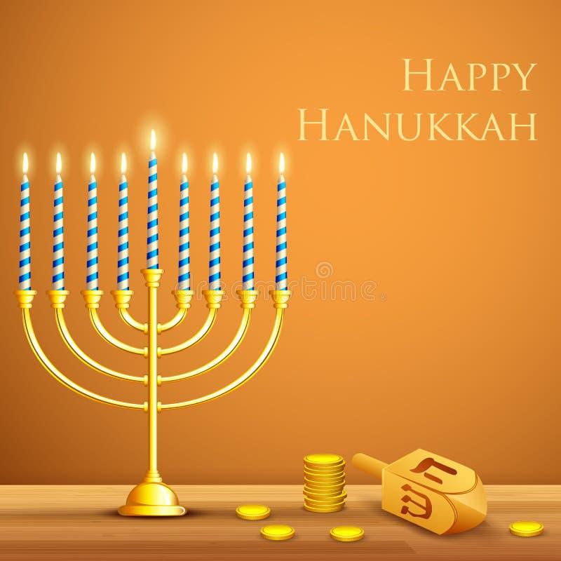 Hanukkah Background stock illustration