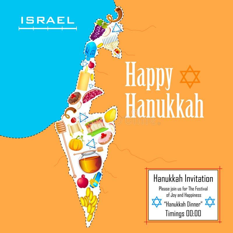 Hanukkah background royalty free illustration