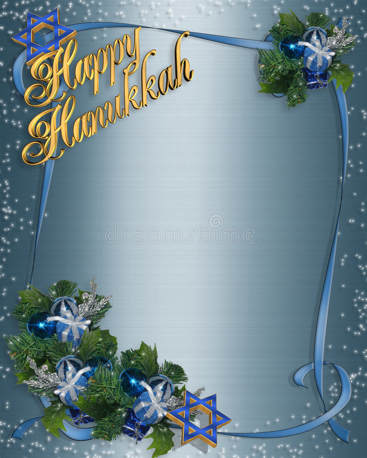 Download Hanukkah border stock illustration. Image of decoration - 6385281