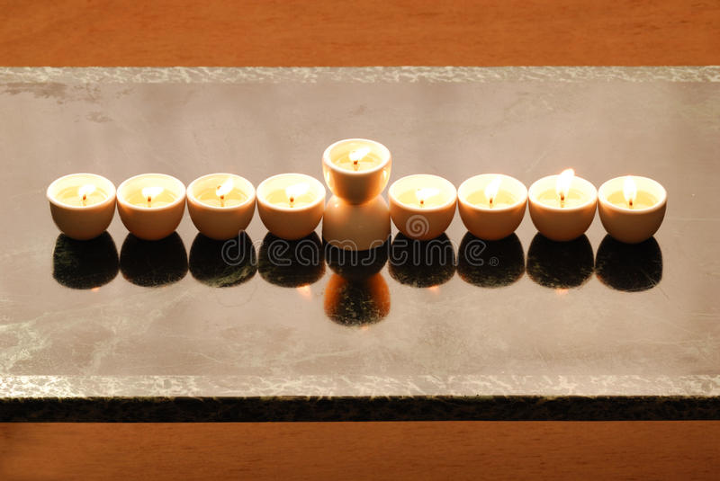Download A hanukkah candelabrium stock photo. Image of cups, flame - 16812200
