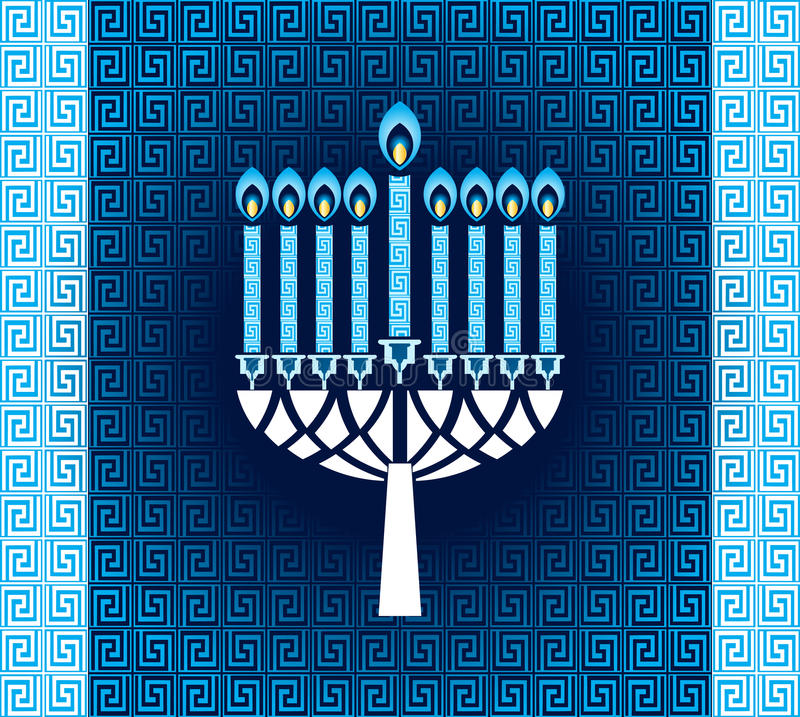 Download Hanukkah Candles With Pattern Stock Vector - Illustration of graphic, candles: 34958326