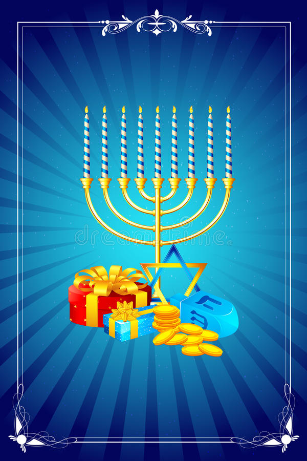 Hanukkah Celebration vector illustration