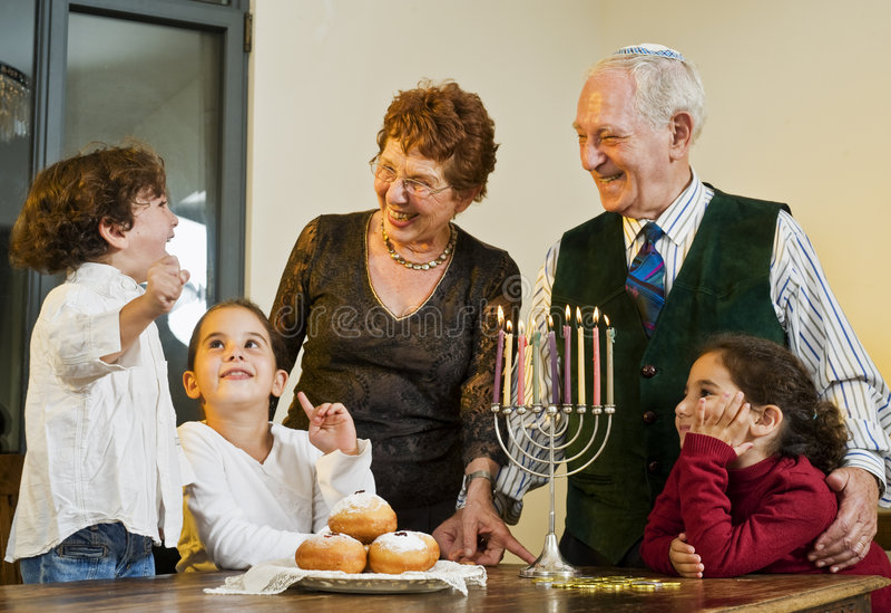Hanukkah celebration royalty free stock photography