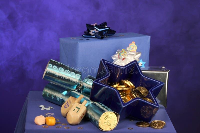 Hanukkah dekoracji fotografia royalty free