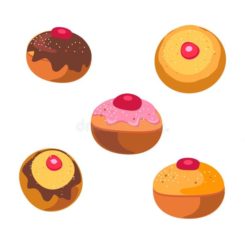 Hanukkah donuts ciastek Wakacyjny wzór
