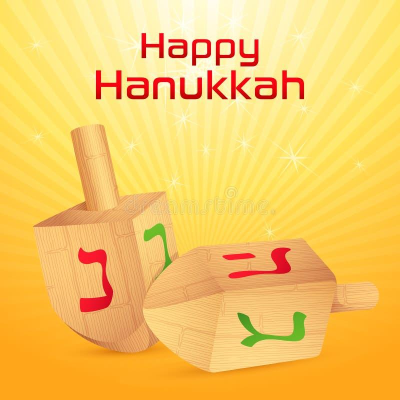 Hanukkah Dreidel stock de ilustración