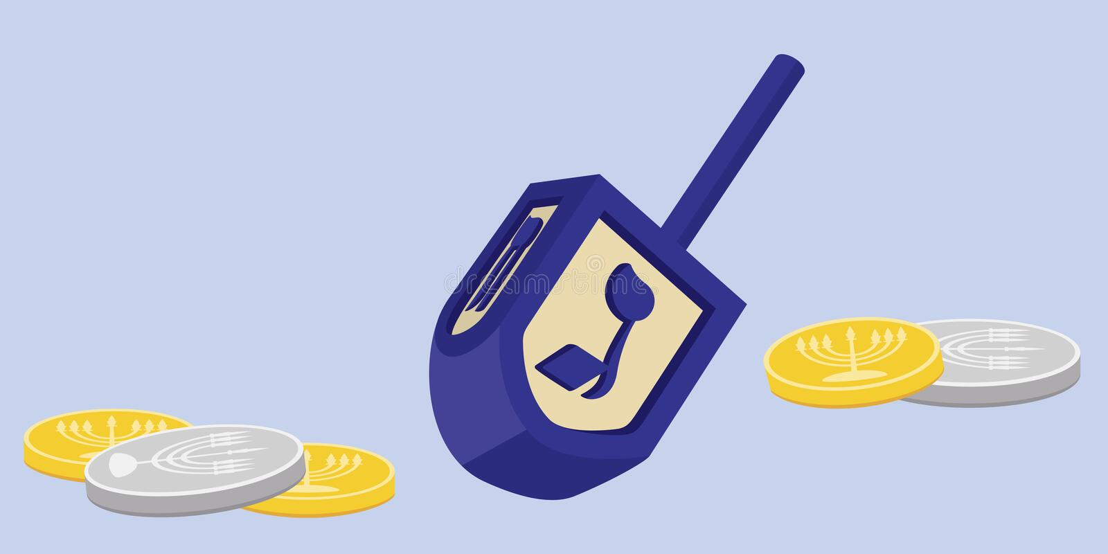 Download Hanukkah Dreidel With Gelt Stock Images - Image: 16069684