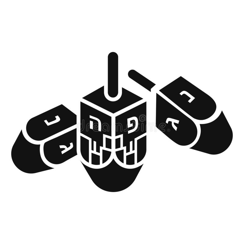 Hanukkah dreidel icon, simple style vector illustration