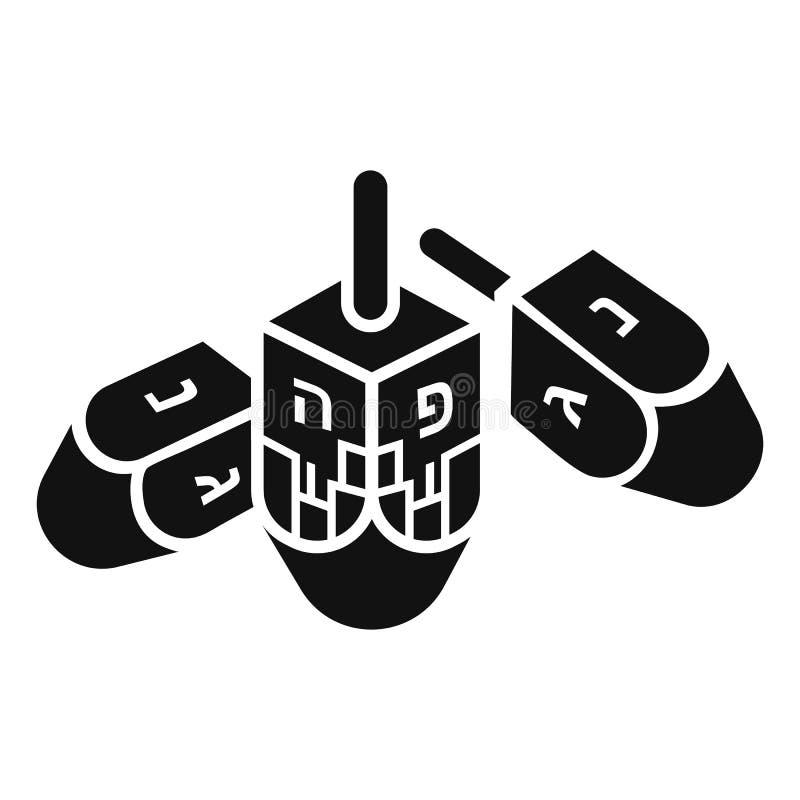 Hanukkah dreidel ikona, prosty styl ilustracja wektor