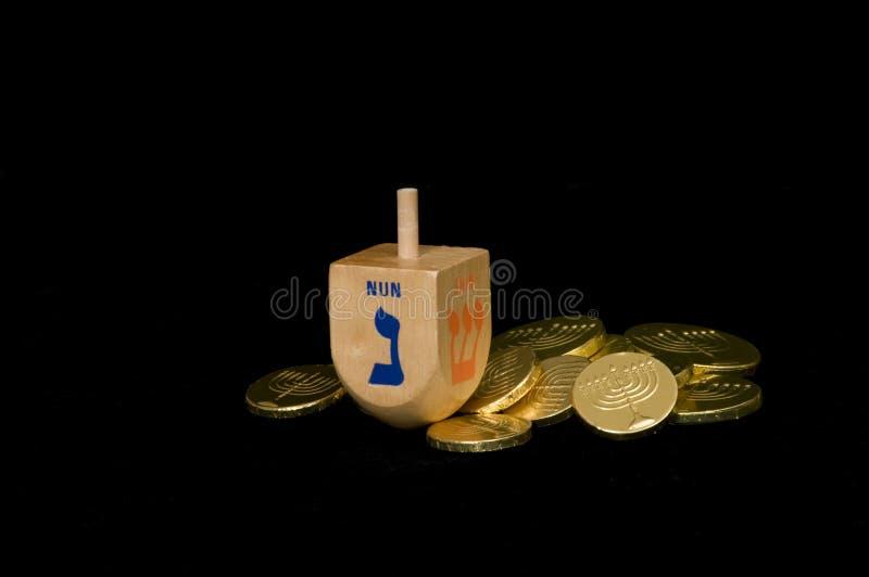 Hanukkah Dreidel und Gelt