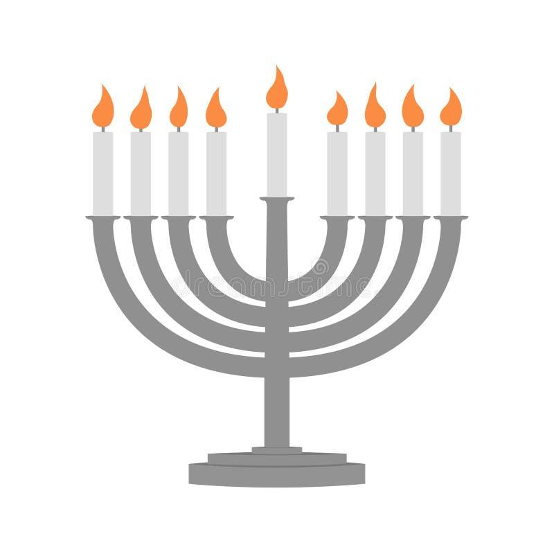 Hanukkah e todas as coisas relativos ilustração do vetor