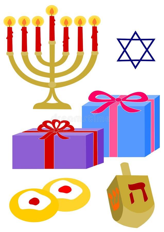 Hanukkah-Elemente stock abbildung