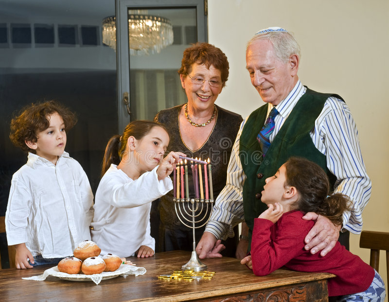 Hanukkah-Feier lizenzfreie stockfotografie