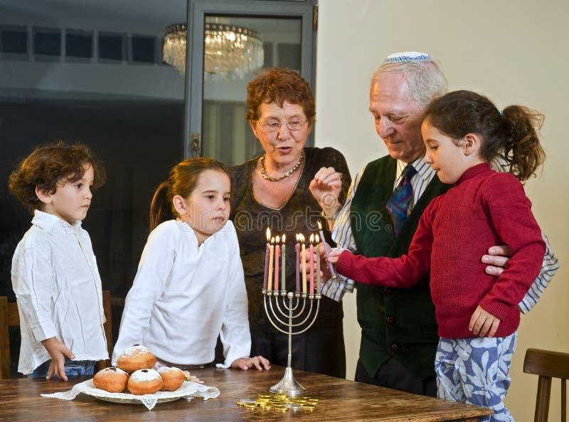 Hanukkah-Feier stockbilder