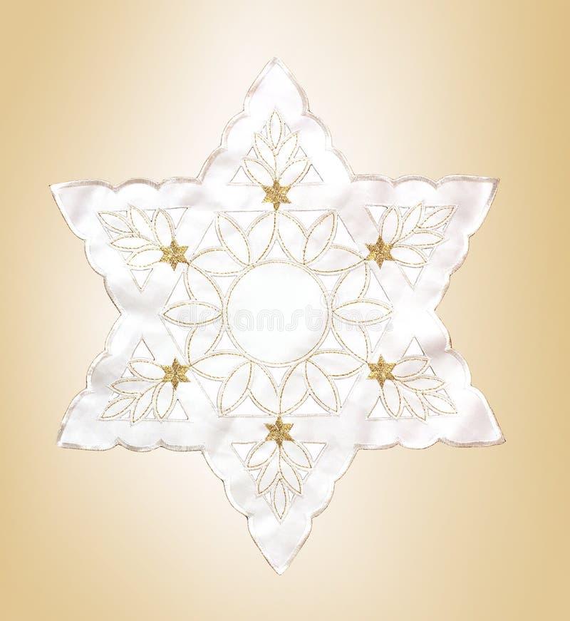 Hanukkah feliz Estrella de David fotografía de archivo