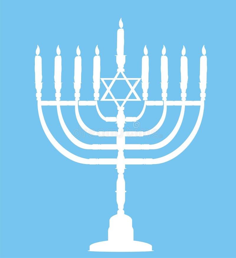 Hanukkah, feriado judeu ilustração do vetor