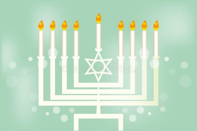 Hanukkah - festiwal świateł ilustracji