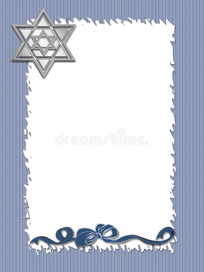 Hanukkah Frame stock illustration. Illustration of lights - 6938681