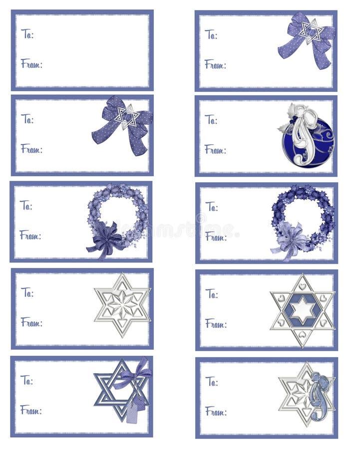Download Hanukkah Gift Tags D3 stock illustration. Image of labels - 11969373