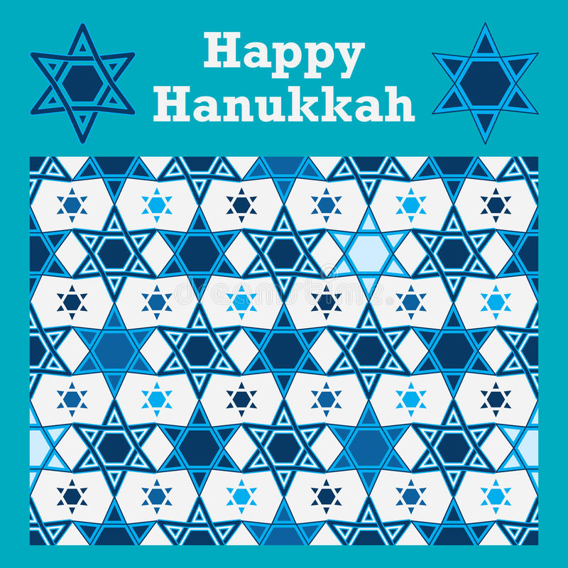 Hanukkah gwiazdy symetria bezszwowa ilustracja wektor