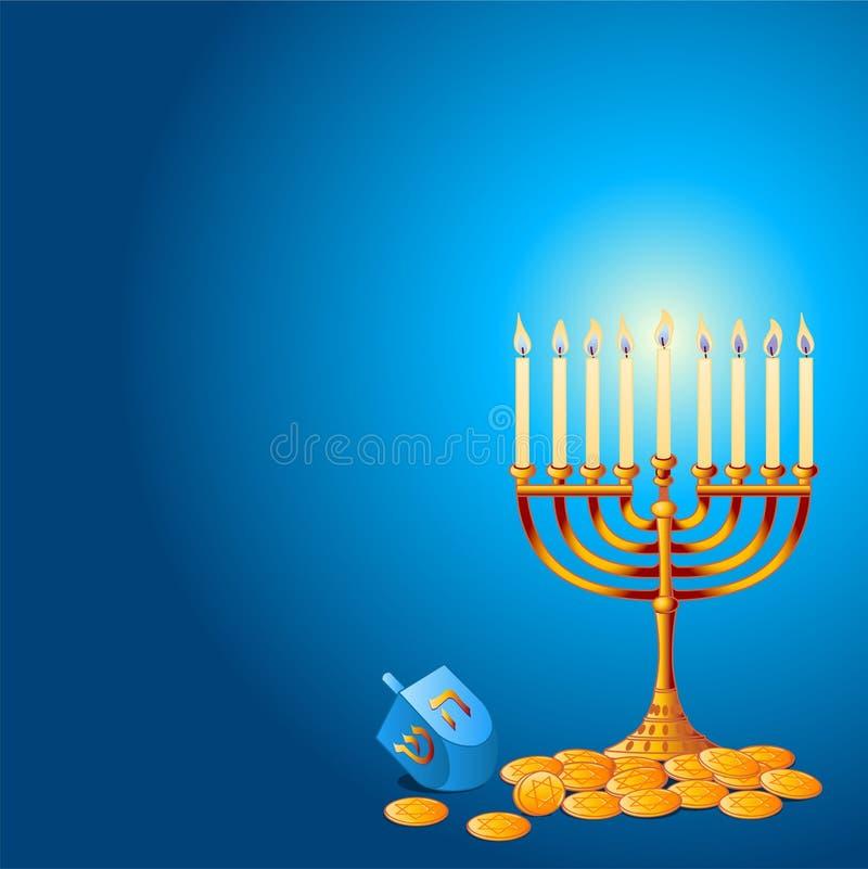 Hanukkah-Hintergrund lizenzfreie abbildung