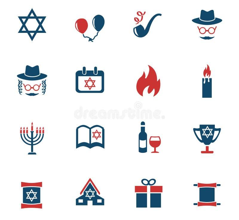 Hanukkah ikony set