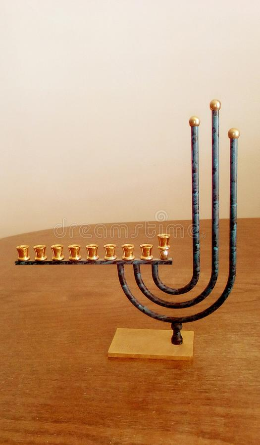 Hanukkah lamp stock photography