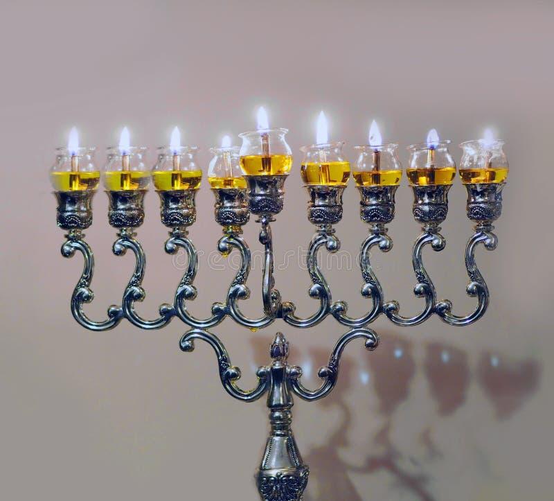 Hanukkah lampa zdjęcie stock