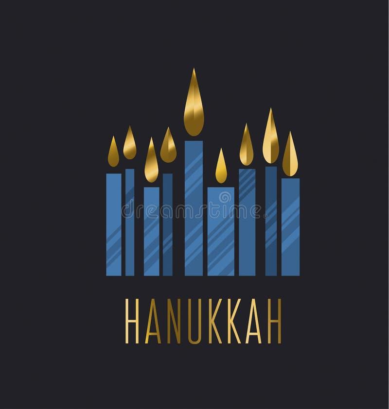Hanukkah menora vector illustration. Juish menora simple vector icon. hanuka candles symbol vector illustration