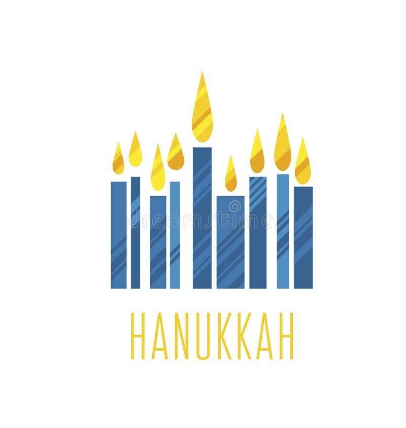 Hanukkah menora vector illustration. Juish menora simple vector icon. hanuka candles symbol stock illustration