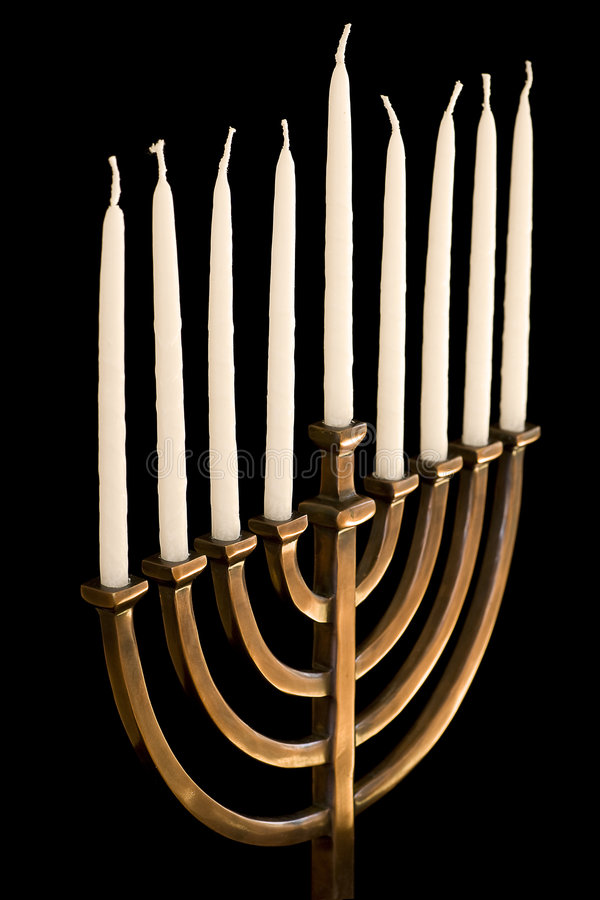 hanukkah menorah αφώτιστος στοκ φωτογραφία με δικαίωμα ελεύθερης χρήσης