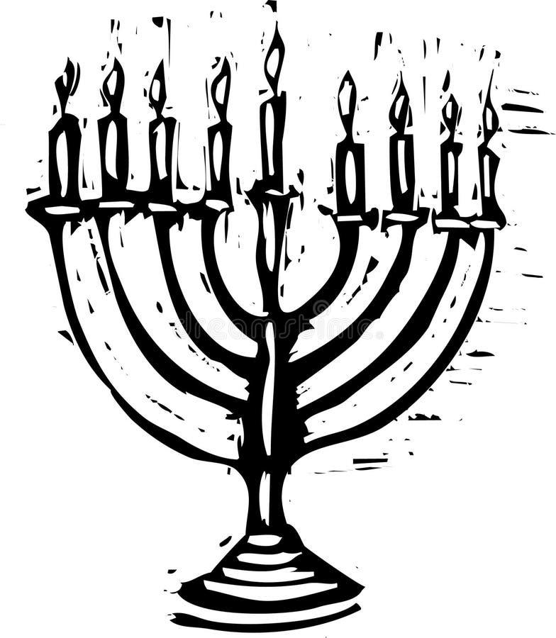 Hanukkah Menorah stock illustration