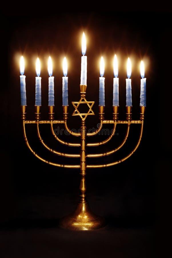 hanukkah menorah στοκ εικόνες
