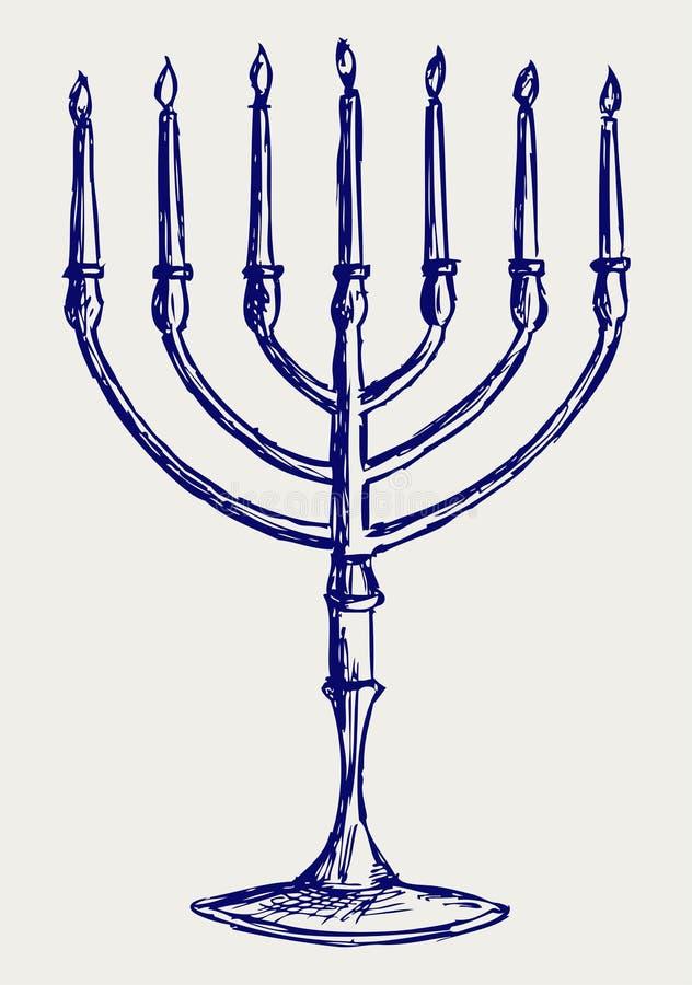 Download Hanukkah menorah stock vector. Image of handwritten, hand - 27139915