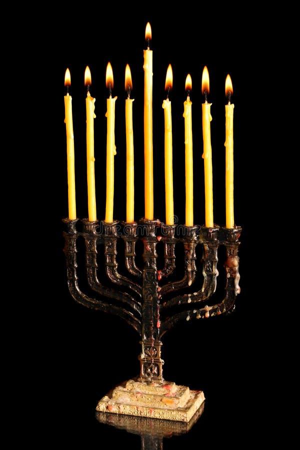 Download Hanukkah menorah stock image. Image of december, light - 3568517