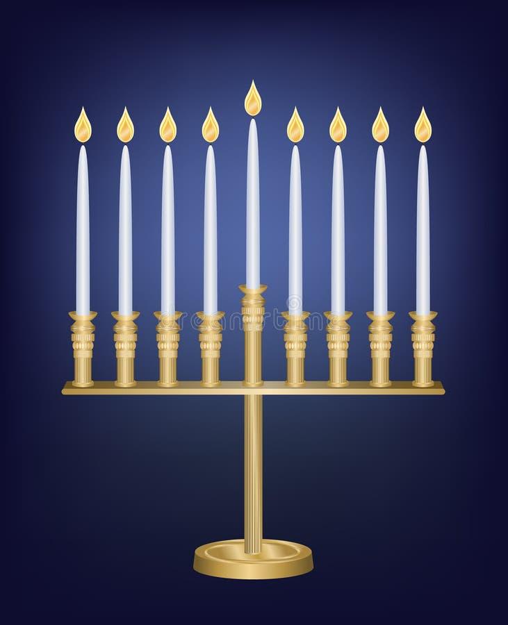 Download Hanukkah Menorah stock vector. Image of decoration, metal - 6781492