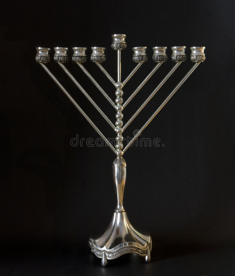 Hanukkah menorah royalty free stock image