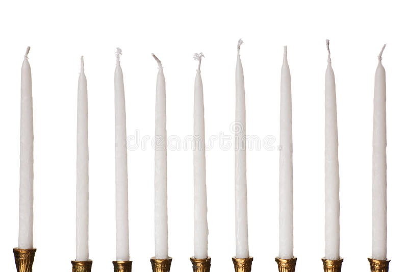Download Hanukkah Menorah Candles Isolated Royalty Free Stock Photos - Image: 10973208