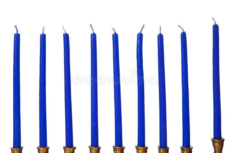 Hanukkah menorah candles isolated royalty free stock image