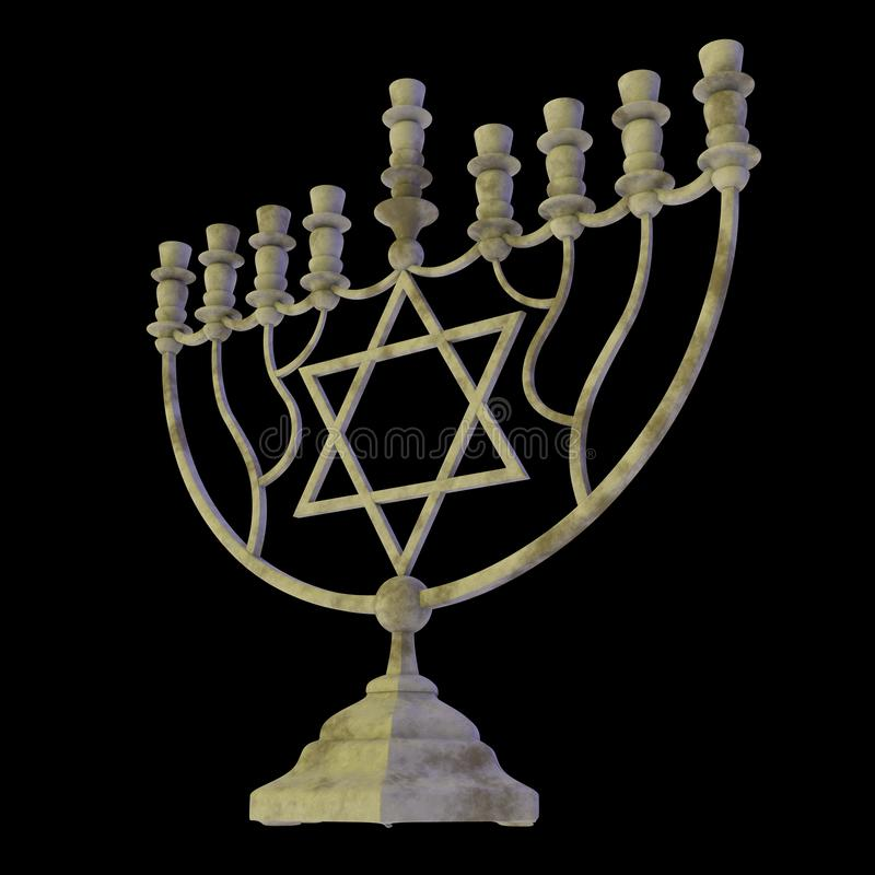 Hanukkah menorah 3D odpłaca się zdjęcie royalty free