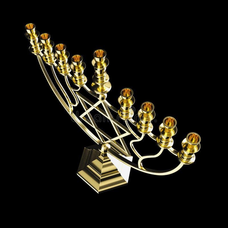 Hanukkah menorah 3D odpłaca się obrazy stock