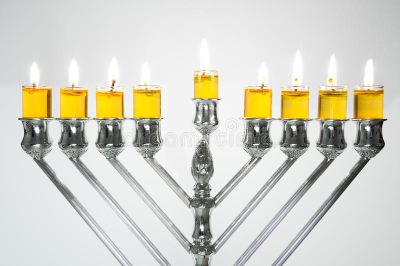 Hanukkah Menorah / Hanukkah Candles stock image