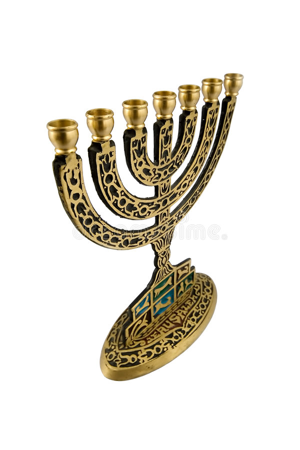 Hanukkah Menorah - isolato fotografia stock