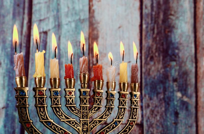 Hanukkah menorah symbol of Judaism traditional holiday royalty free stock photos